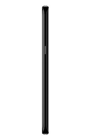 Right side view of Galaxy S8 màu Midnight Black