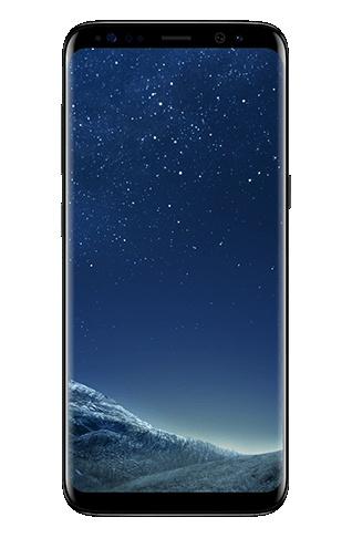 Mặt trước của Galaxy S8 màu Midnight Black