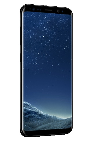 Angled left view of Galaxy S8 màu Midnight Black