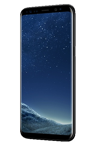 Angled right view of Galaxy S8 màu Midnight Black