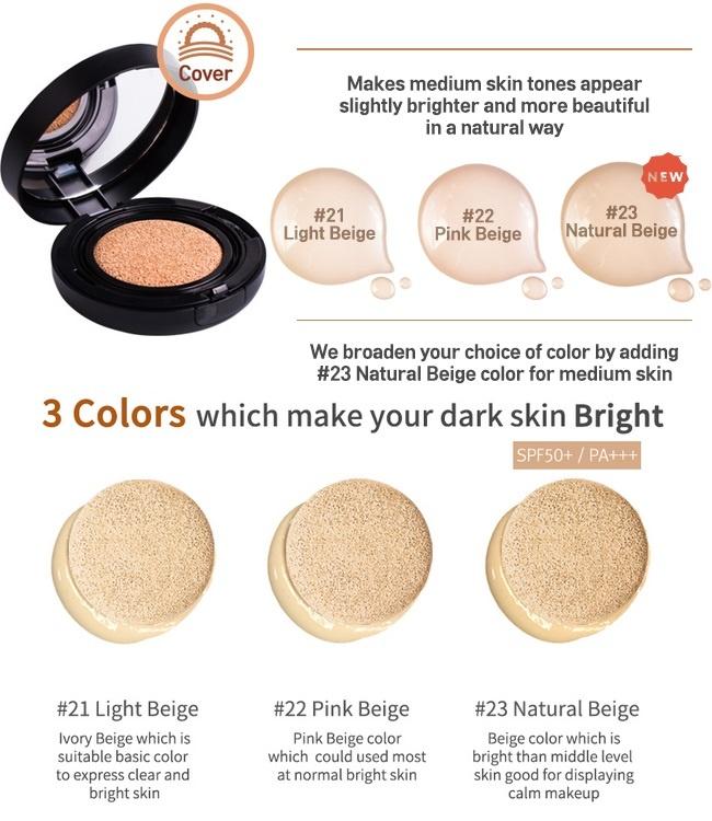 Image result for April Skin Black Magic Snow Cushion 15g #21 Light Beige