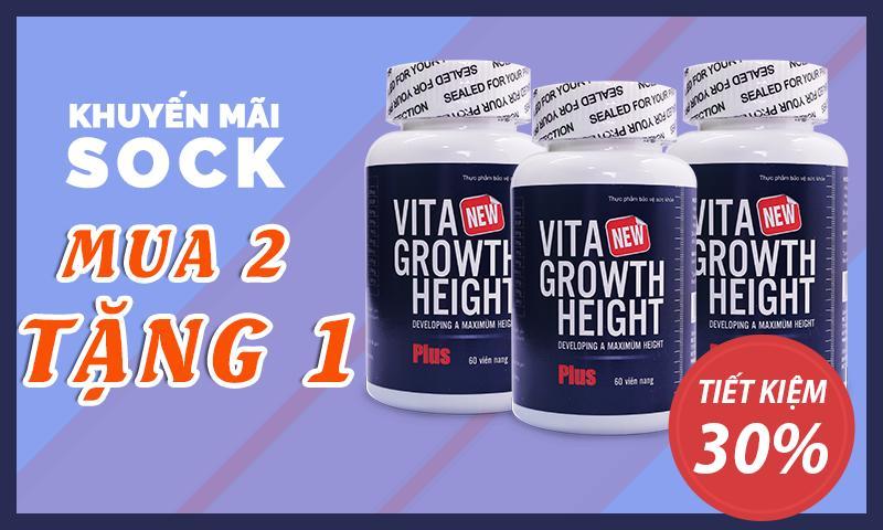 khuyến mãi mua 2 tặng 1 vita growth height