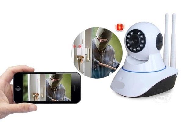 Camera HD Wireless IP quan sát và báo động Hola - xoay 360 độ 2