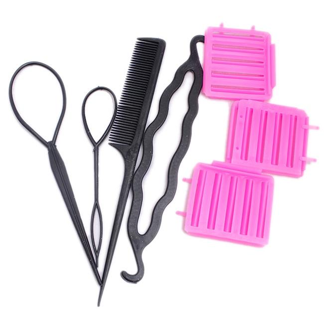 combo 3 dập xù chân tóc+ 1 bộ dụng cụ làm tóc - hình 5