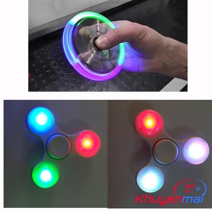 con quay 3 canh fidget spinner 2 kiểu đèn Led 4