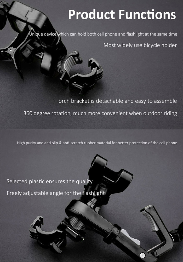2 in 1 360 Degree Rotation Multifunctional Bicycle Holder
