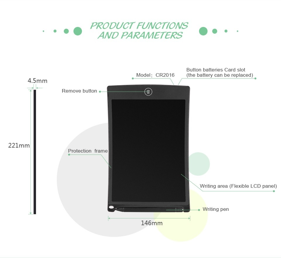 ustomized pocket book 8.5 inch wirting LCD tablets