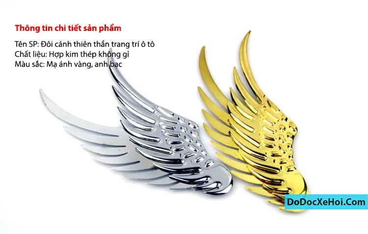 đôi cánh thiên thần dán xe hơi