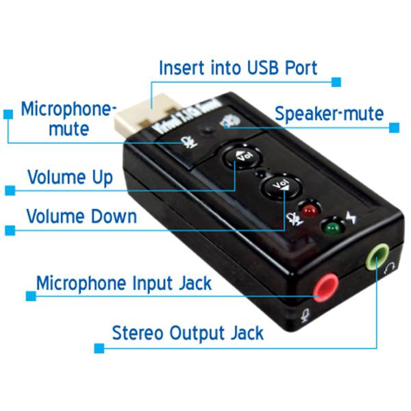 Kết quả hình ảnh cho USB ÂM THANH 7.1