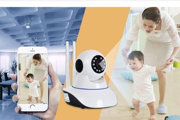 Camera HD Wireless IP Detek X8100 xoay 360 độ dùng ứng dụng Yoosee v2017 (Trắng)