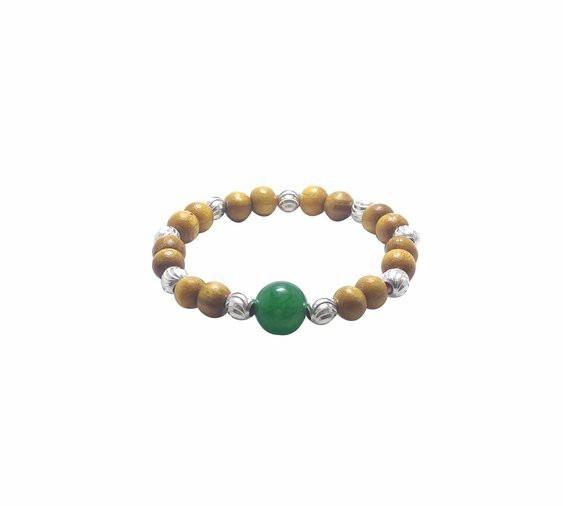 Vòng dâu tằm Ngọc Tuyêt 9 bi đá phong thủy xanh biển tròn 4