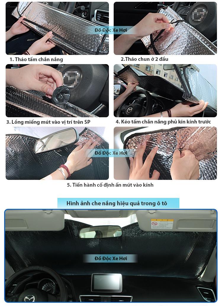Hướng dẫn sử dụng Tấm che nắng kính trước trong xe
