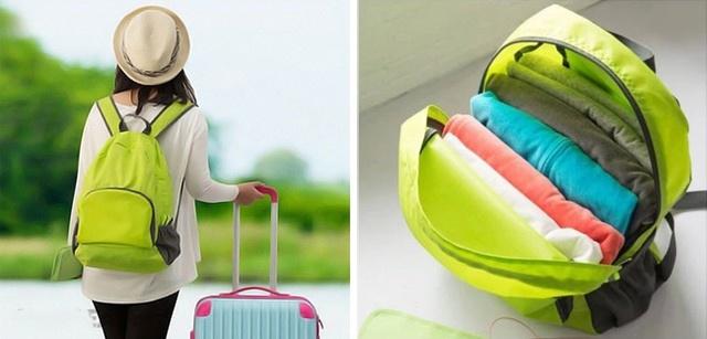 Balo du lịch xếp gọn nhiều màu năng động - 2