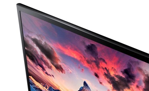 Thiết kế màn hình vi tính Samsung LS22F350FHEXXV siêu mỏng.
