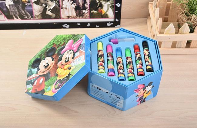 Hộp bút chì màu 4 tầng 46 món cho bé