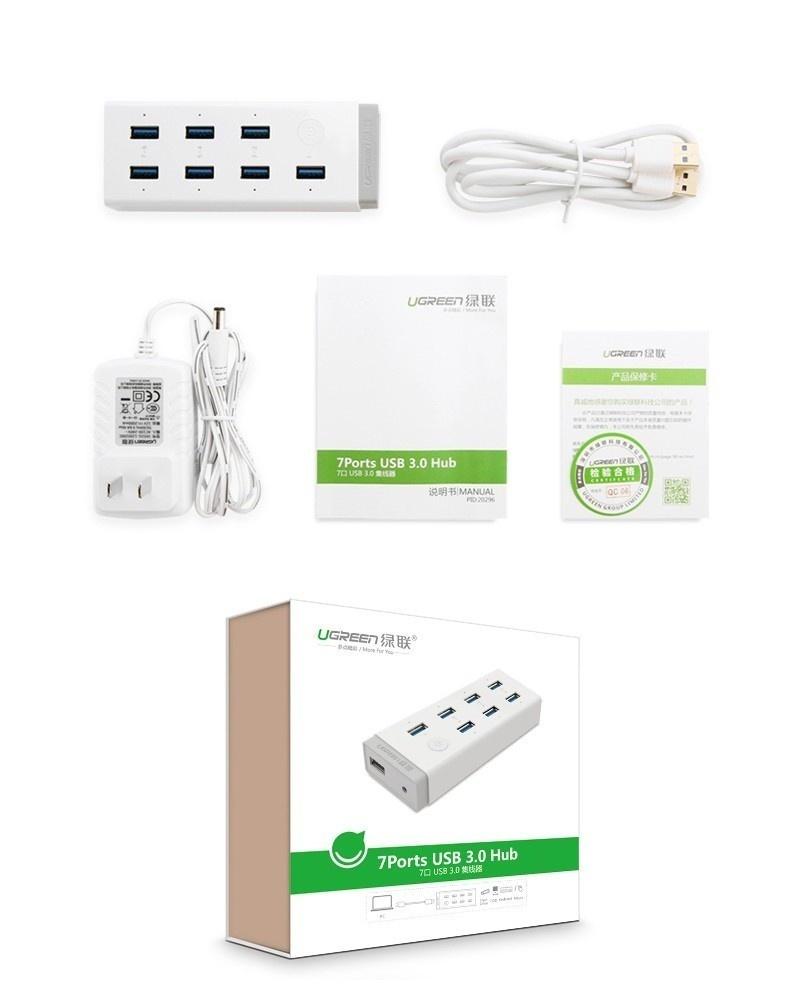 Hub 7 cổng USB 3.0 kèm sạc điện thoại, máy tính bảng Ugreen UG-20296 6