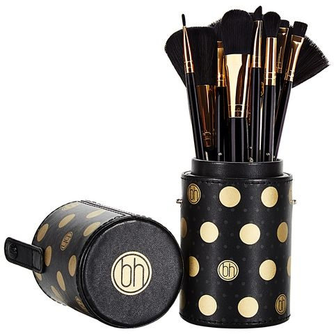Bộ cọ 11 Cây BH Cosmetics Dot Collection - 11 Piece Brush Set Black