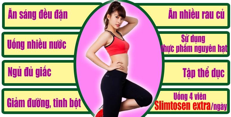 Tuân thủ theo quy trình giảm cân với Slimtosen Extra để đạt hiệu quả giảm cân tốt nhất