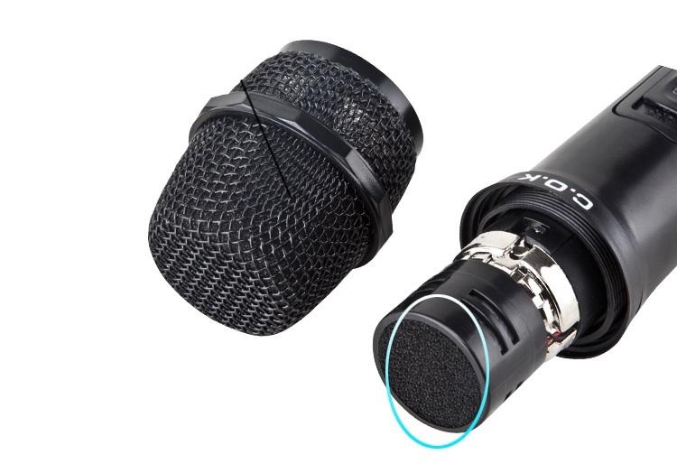 Microphone không dây C.O.K W-700 Đen 3