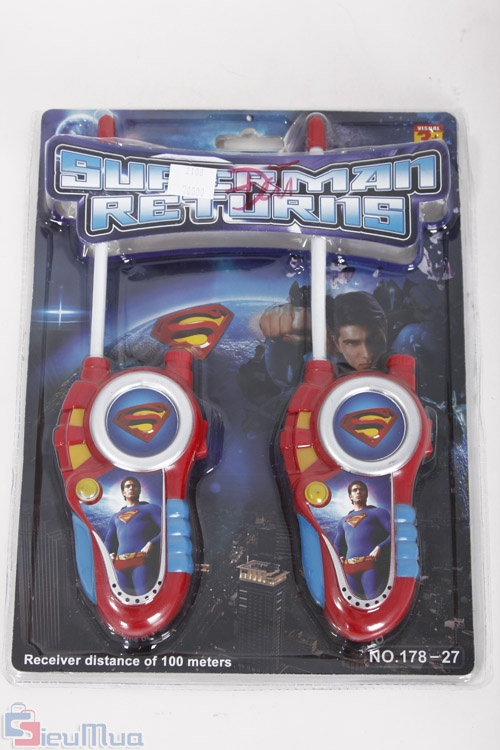 Kết quả hình ảnh cho bộ đàm cho bé superman