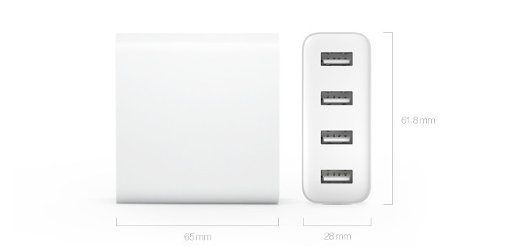 Image result for Sạc USB 4 cổng 2.0A Xiaomi