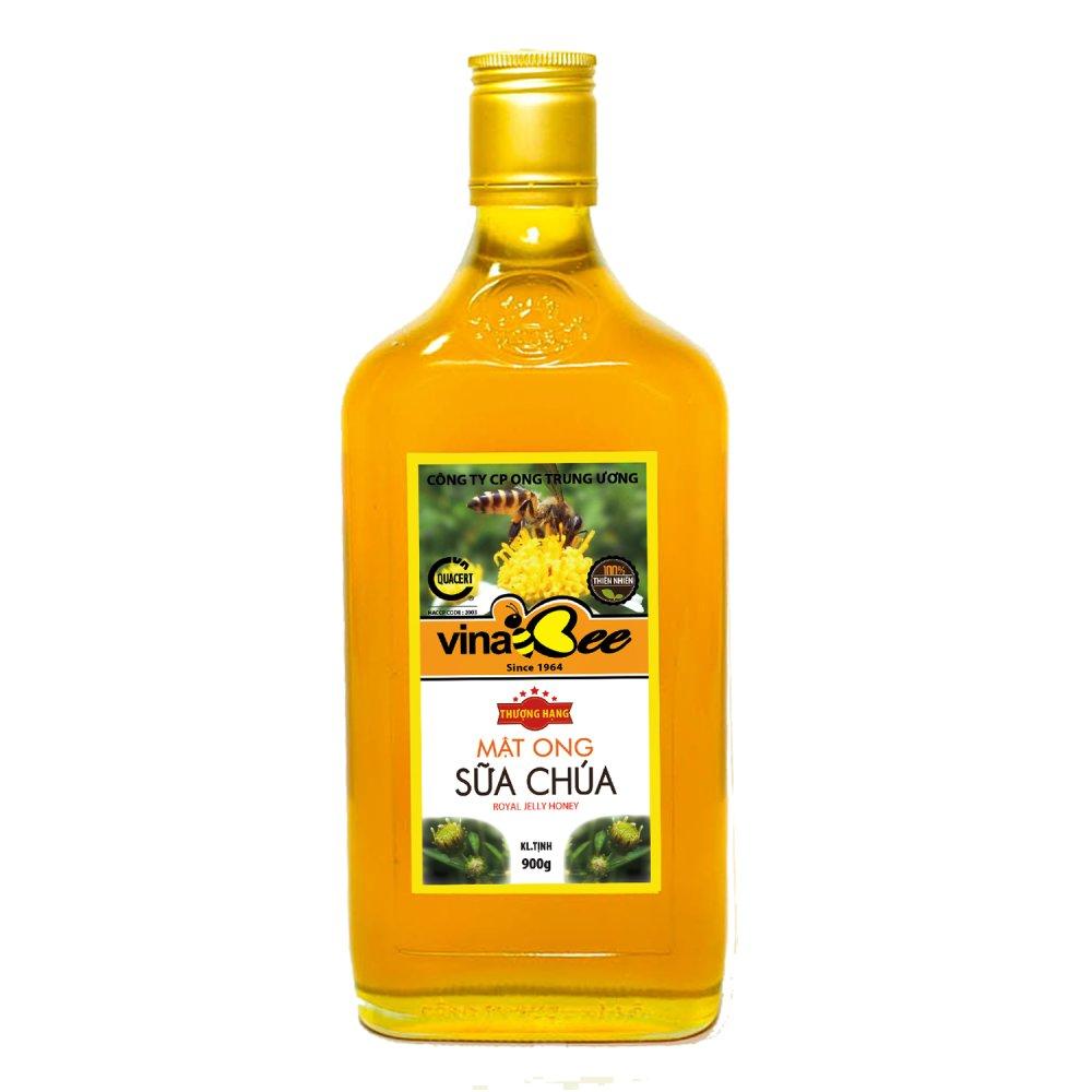 mật ong sữa chúa đặc biệt vinabee chai vuông 900g