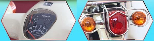 Mặt đồng hồ và đèn đuôi xe