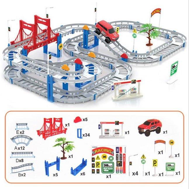 Bộ đồ chơi lắp ráp đường ray dành cho ô tô
