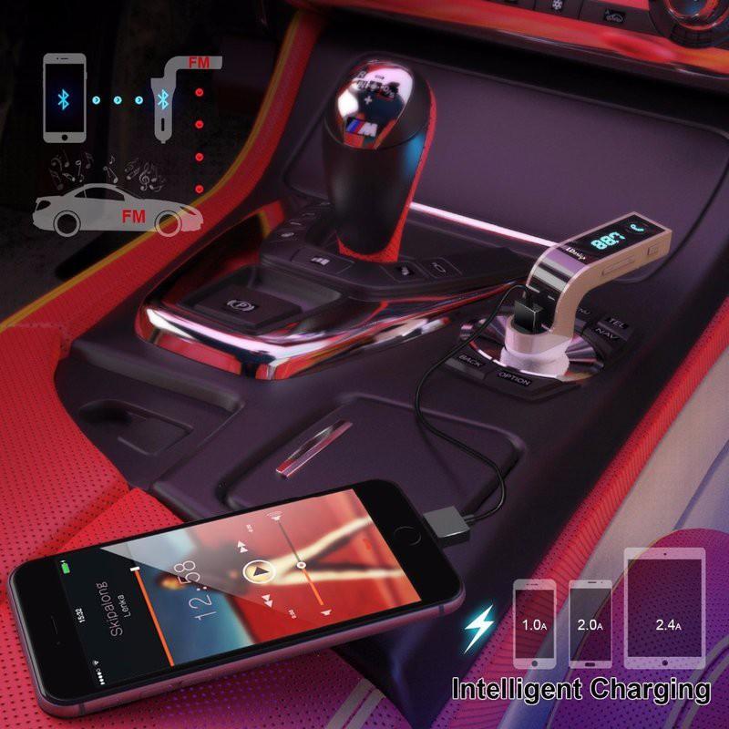 Sạc CAR G7 CAO CẤP , KẾT NỐI BLUETOOTH, NGHE NHẠC MP3 TỪ USB, THẺ NHỚ 5