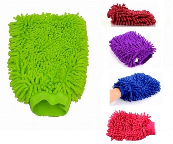 Bộ 2 găng tay lau rửa xe siêu mềm thấm hút tốt chuyên dụng cho ô tô xe máy (Màu ngẫu nhiên) 1