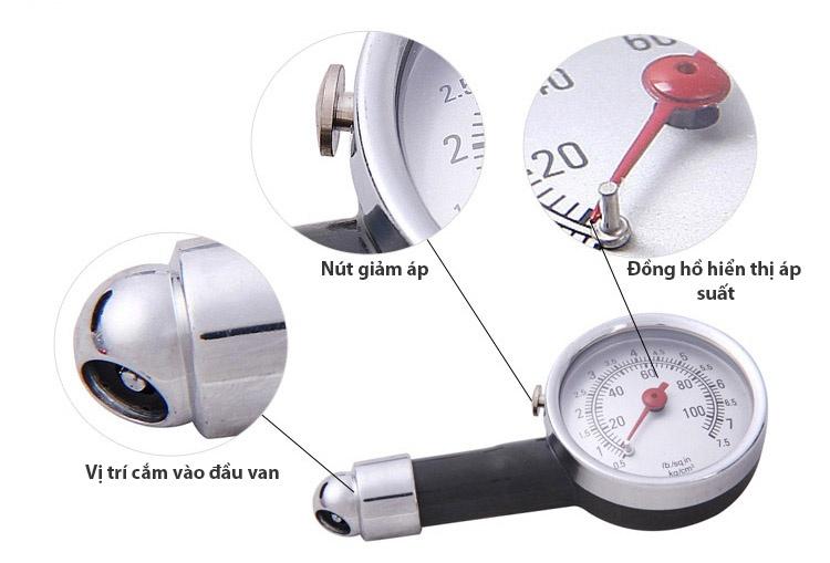 đồng hồ đo áp suất lốp ô tô