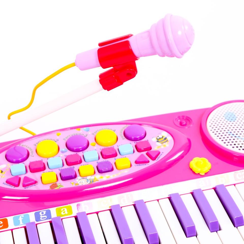 Kết quả hình ảnh cho Đàn Organ Điện Tử Kèm Micro Cho Bé Tập Học Nhạc
