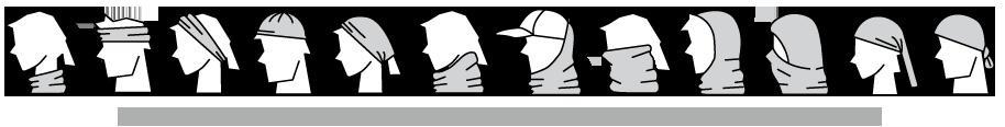 Hướng dẫn sử dụng khăn ống đa năng - Khăn đa năng Original Buff