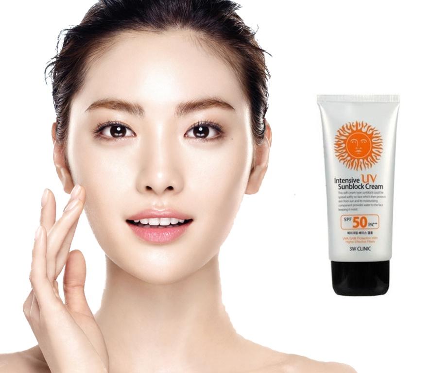 Kem chống nắng bảo vệ da toàn diện 3W Clinic UV Sunblock Cream SPF 50+