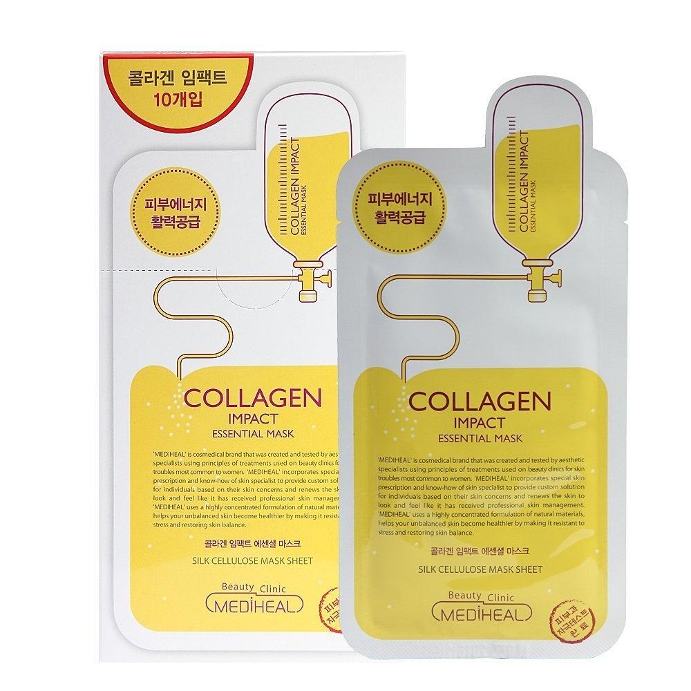 Kết quả hình ảnh cho Mediheal COLLAGEN impact essential mask