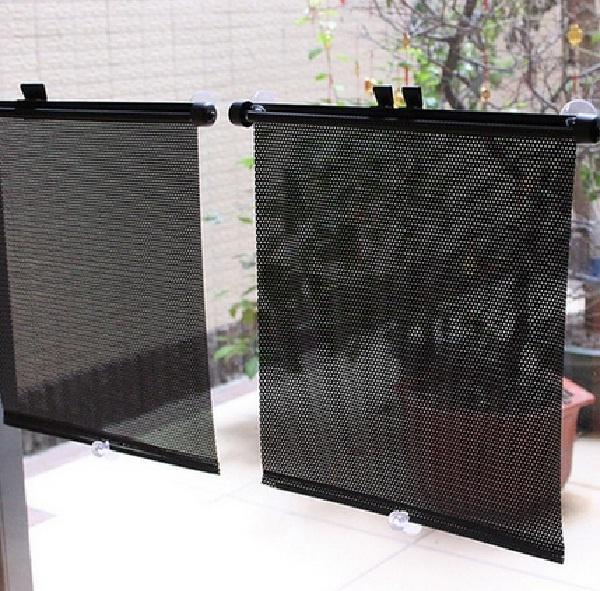 Bộ 4 màn che nắng cửa sổ cuốn gọn cho ô tô 1
