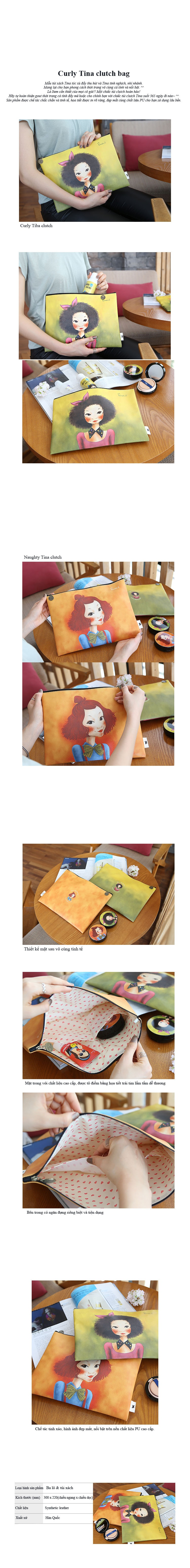 Curly Hair Tina Slim Pouch