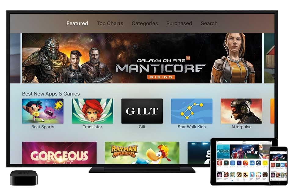 tvOS là kho ứng dụng mới dành riêng cho Apple TV.