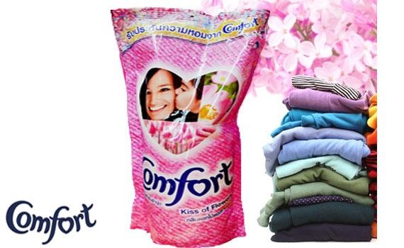 Nước xả Comfort Thái Lan Hồng 600ML cho quần áo mềm mịn