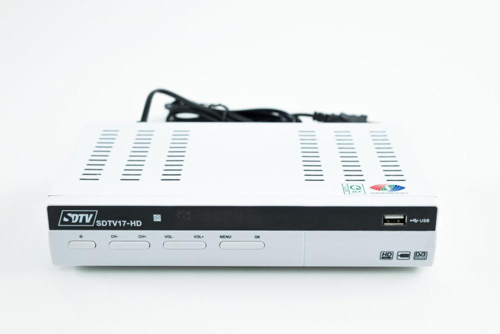 Mặt trước của Đầu thu DVB T2 SDTV 17-HD