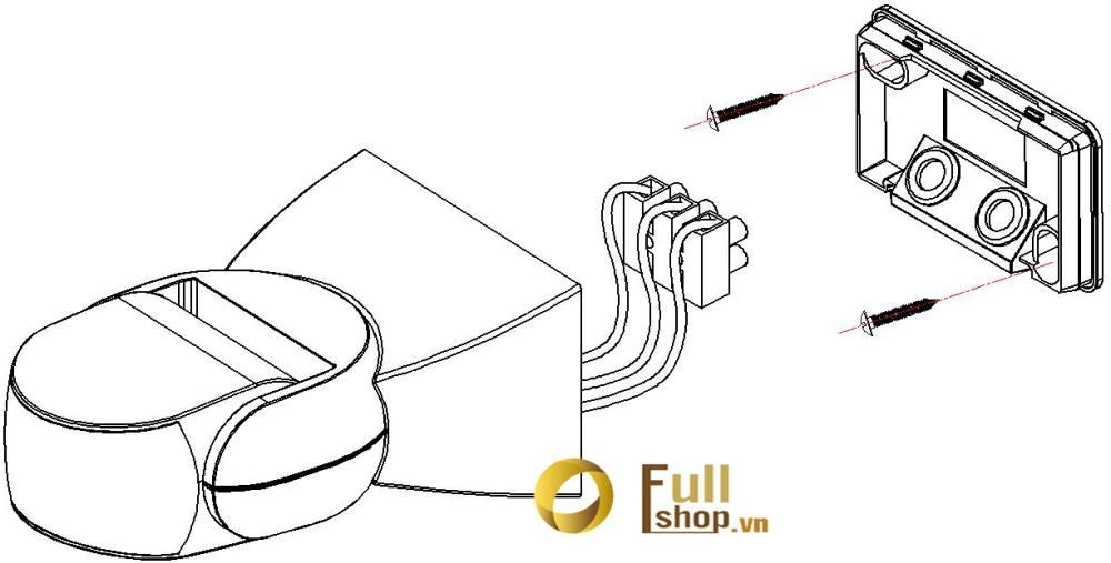 Công tắc cảm ứng rada vi sóng cảm biến chuyển động lắp tường, trần kawa KW-RS05B