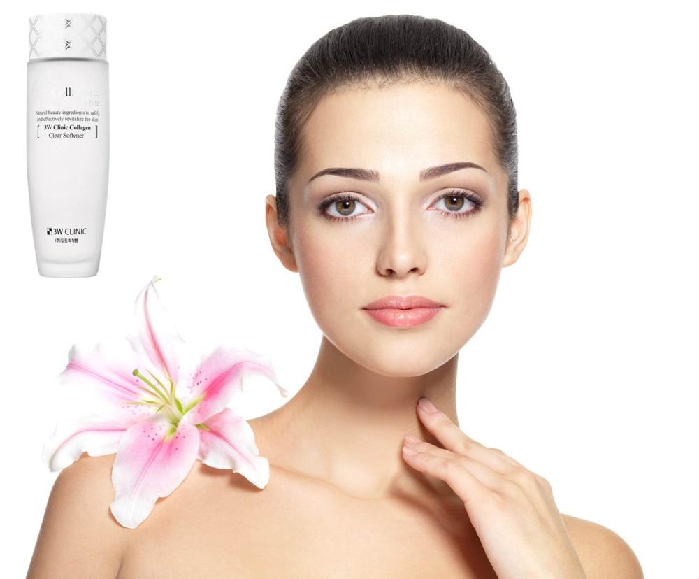 Nước Hoa Hồng Làm Trắng Da 3W Clinic Collagen Clear Softener (150ml)