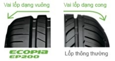 Lốp xe Bridgestone Ecopia EP200 205/60R16 - Miễn phí lắp đặt