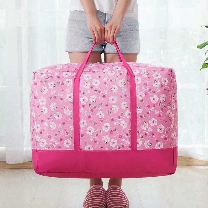 Set 3 túi đựng quần áo chăn màn vải họa tiết 2