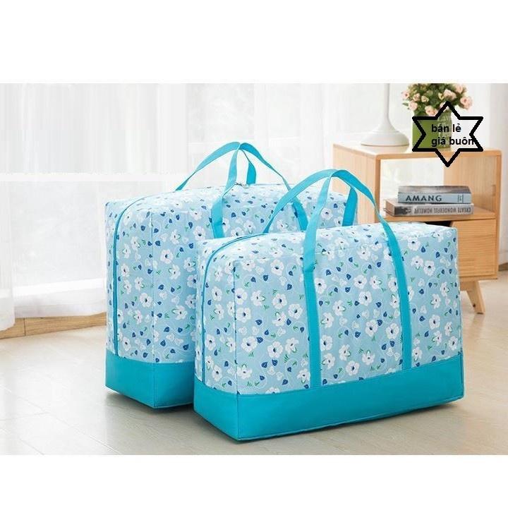 Set 3 túi đựng quần áo chăn màn vải họa tiết 3