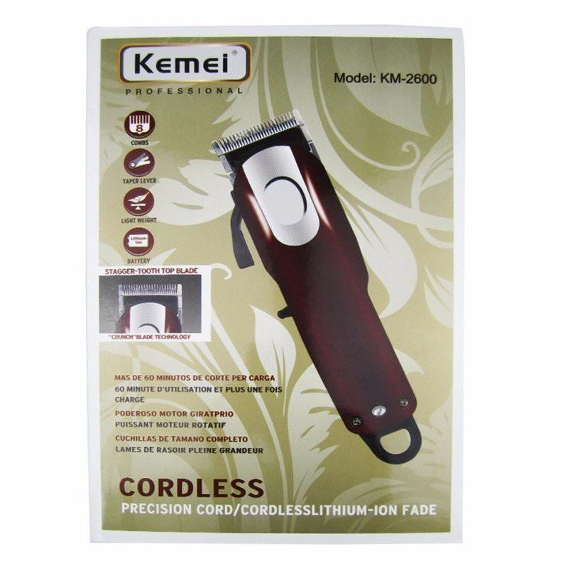 Tông đơ cắt tóc không dây chuyên nghiệp Kemei KM-2600 2