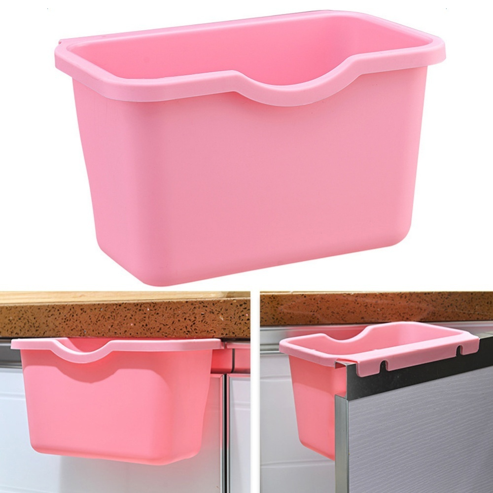 Makiyo Cabinet Doors Hanging Plastic Trash Creative Desktop Storage Box Kitchen Bathroom Organizers - intl