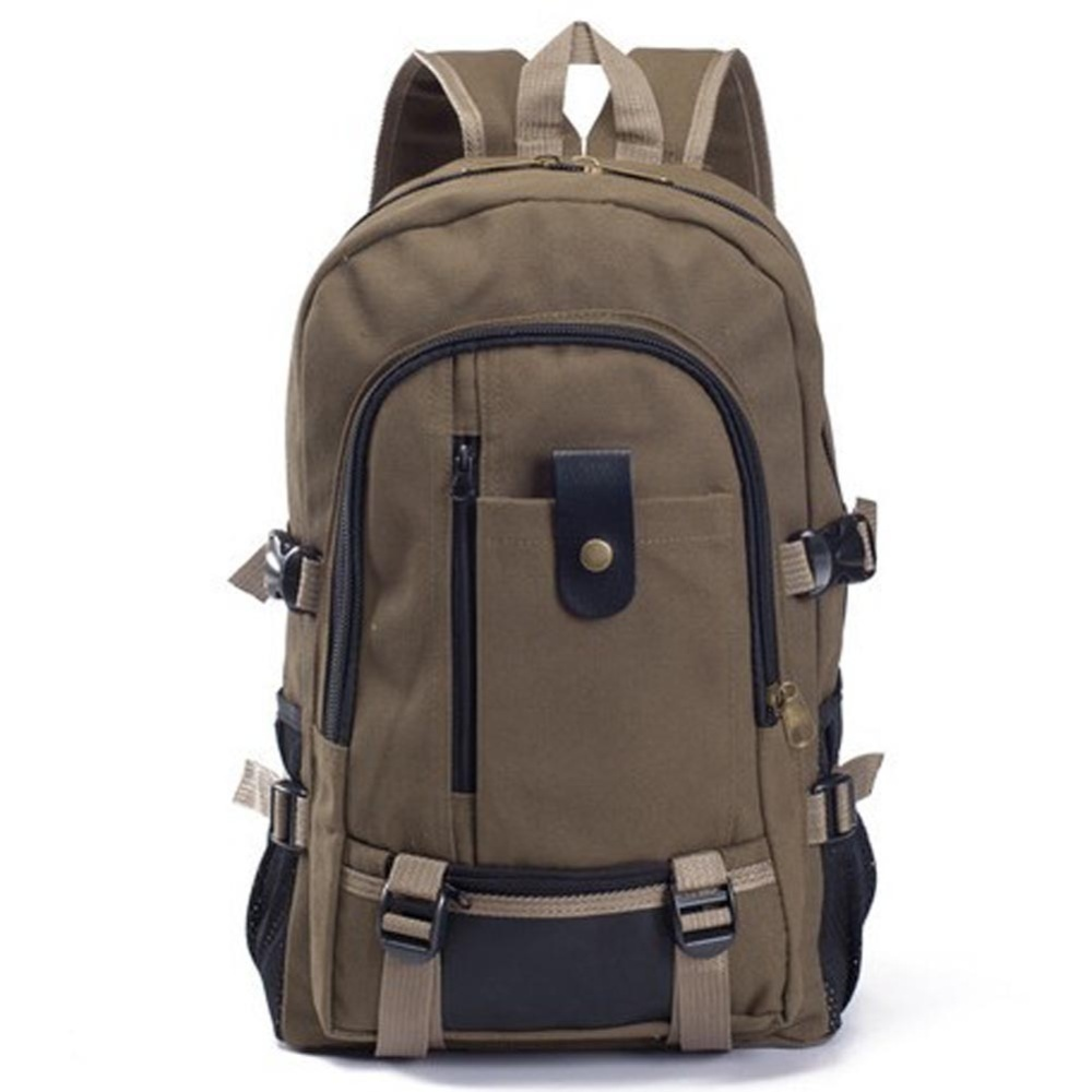 Amart Canvas Men′s Backpacks Outdoor Men Bags Casual Backpack(Khaki) - intl