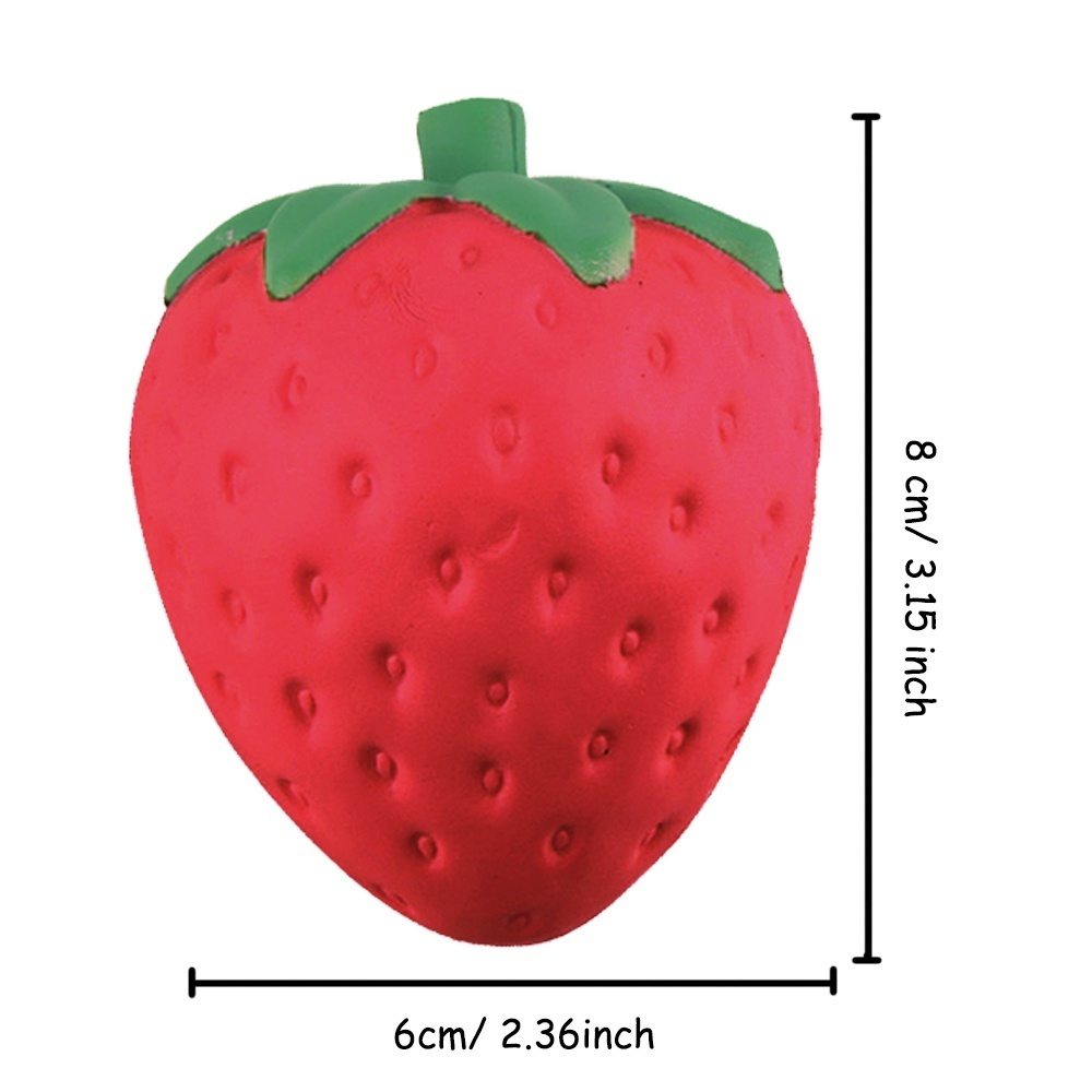Thông tin sản phẩm 4Pcs Portable Soft Kawaii Artificial Squishy Strawberry Shape Cream Scented Slow Rising Simulation Relieves Stress Anxiety Early ...