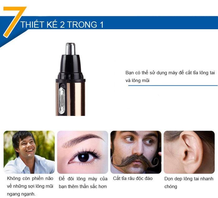Máy tỉa lông mũi Kemei KM-6619